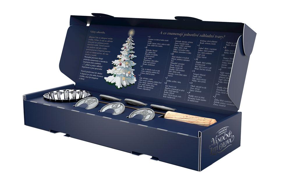 vánoční lití olova - krabice